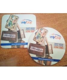 Sottobicchieri personalizzati stampata